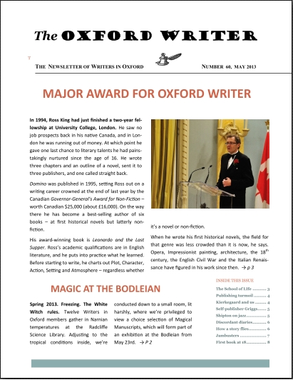 The Oxford Writer, May 2013