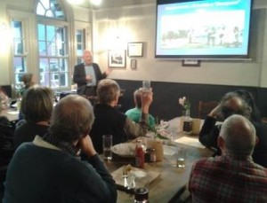 Author talk with pub supper