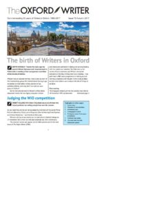 2017 October, The Oxford Writer